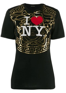 Versace New York-print T-shirt
