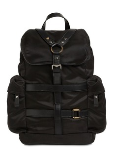 Versace Nylon & Leather Backpack