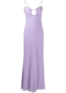 Versace O-ring floor-length dress