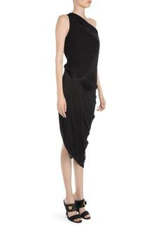 Versace One-Shoulder Fringe Dress