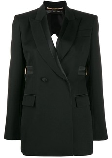 Versace open back double-breasted blazer
