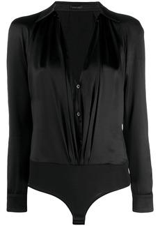 Versace open front shirt