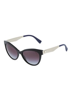 Versace Oversized Acetate/Metal Cat-Eye Sunglasses
