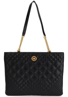 Versace oversized quilted shoulder bag