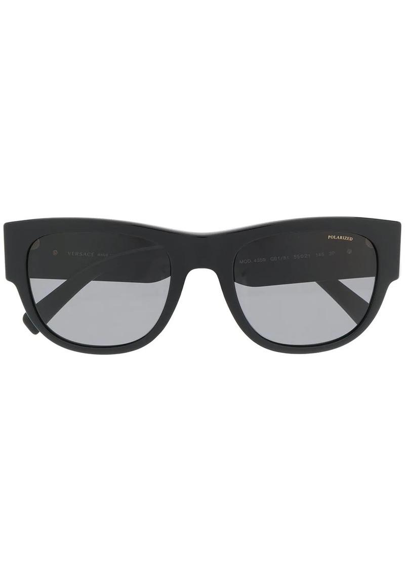Versace oversized round frame sunglasses