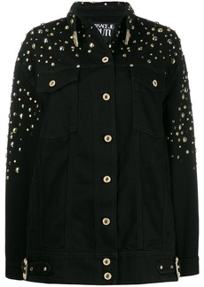 Versace oversized studded denim jacket