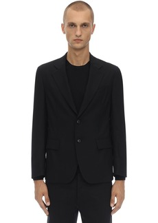 Versace Packable Stretch Wool Travel Jacket