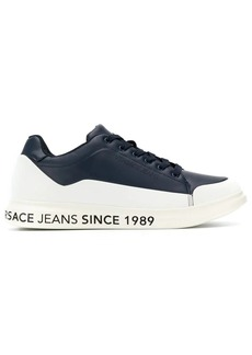Versace panelled lace-up sneakers