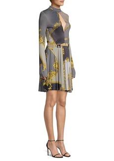 Versace Pastel Eyeshadow Print Jersey Dress