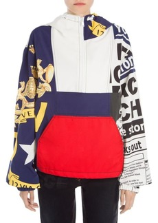 Versace Patchwork Hooded Jacket