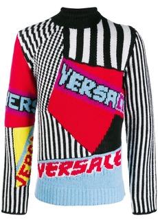Versace intarsia logo sweater