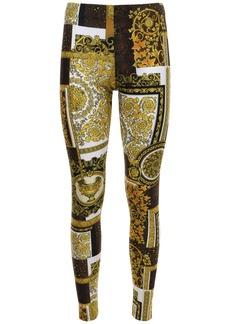 Versace Patchwork Print Leggings