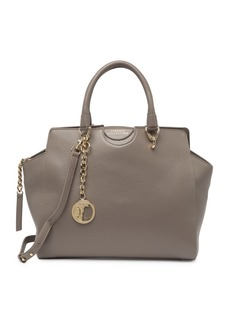 Versace Pebble Leather Satchel