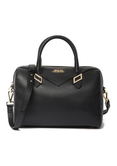 Versace Pebbled Leather Satchel
