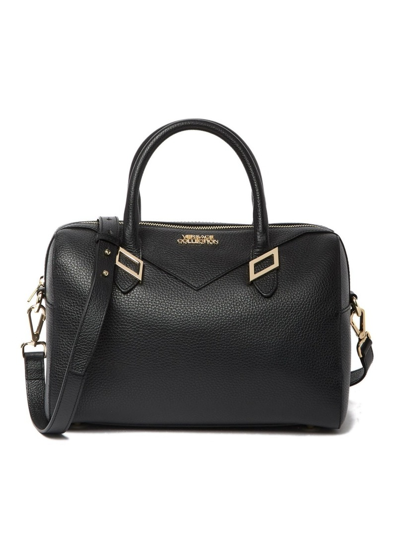Versace Pebbled Leather Satchel