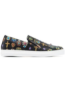 Versace Pierres Grandes print slip-on sneakers
