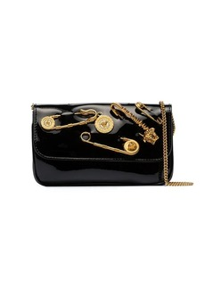 Versace pin-embellished shoulder bag