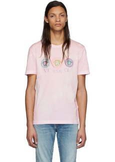 Versace Pink Tie-Dye Medusa T-Shirt