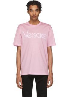 Versace Pink Vintage Logo T-Shirt