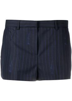 Versace pinstripe tailored shorts