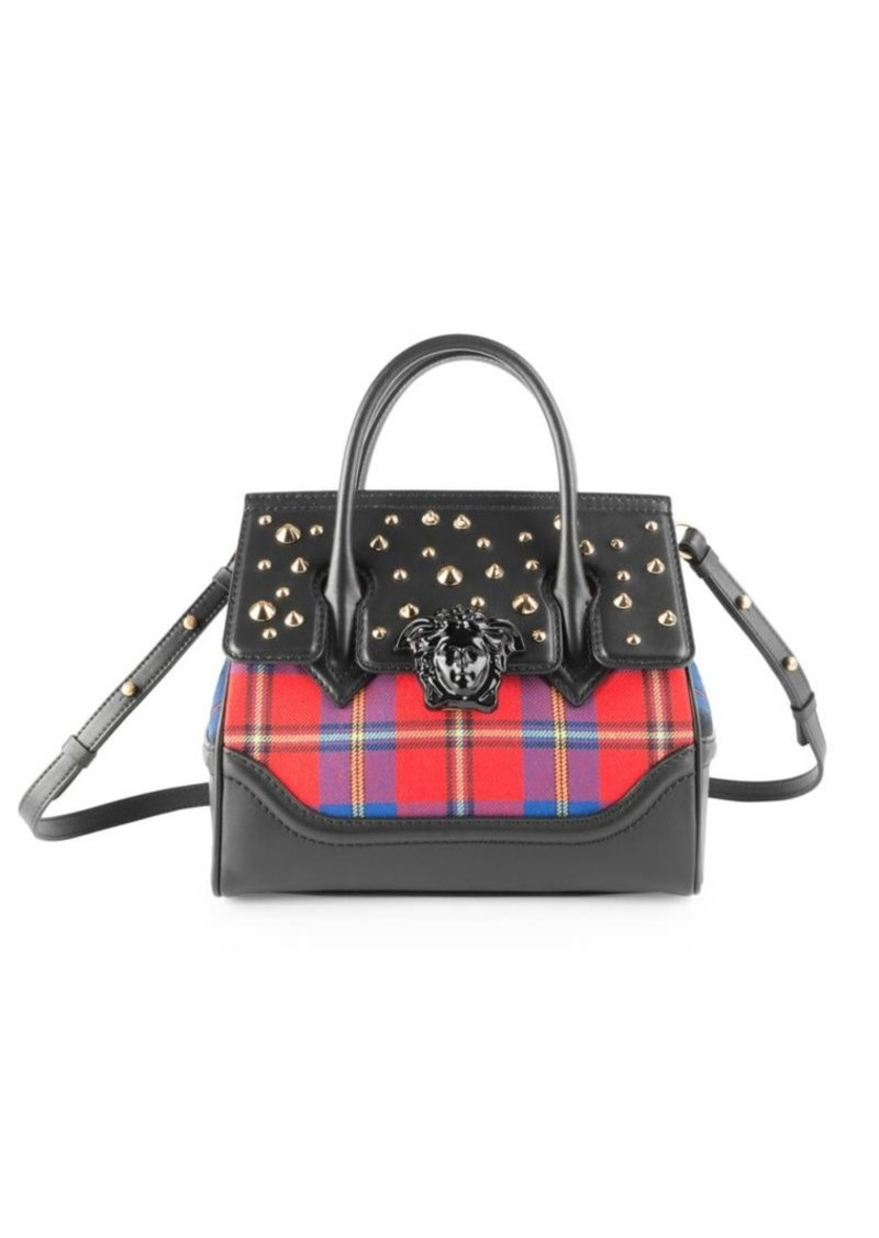 Versace Tartan Palazzo Empire Top Handle Bag  8da4ffcc4e468