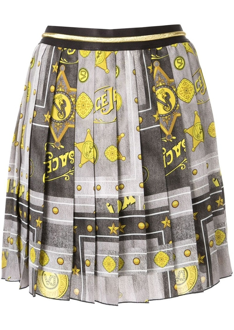 Versace pleated mini skirt