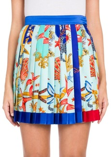 Versace Pleated Twill Mini Skirt