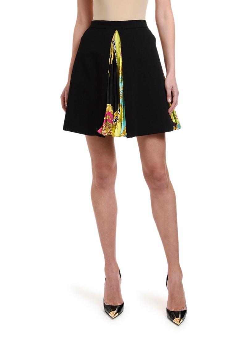 Versace Plisse Print Inset Skirt