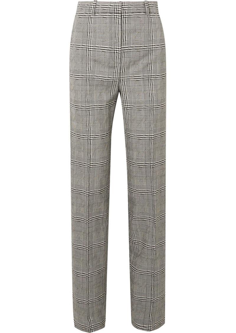 Versace Prince Of Wales Checked Wool Straight-leg Pants