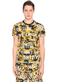Versace Print Baroque Logo Cotton Jersey T-shirt