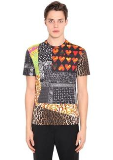Versace Printed Cotton Blend Jersey T-shirt