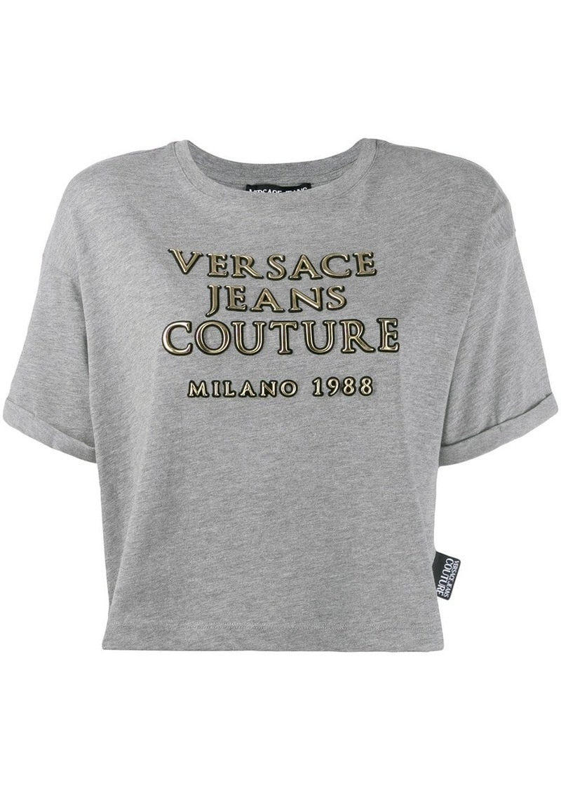 Versace printed cropped T-shirt