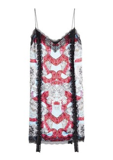 Versace Printed Dress with Lace