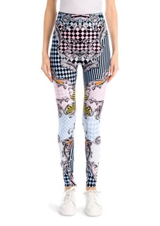 Versace Printed Jersey Leggings