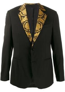 Versace printed lapel suit jacket
