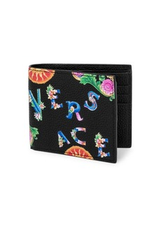 Versace Printed Leather Bifold Wallet