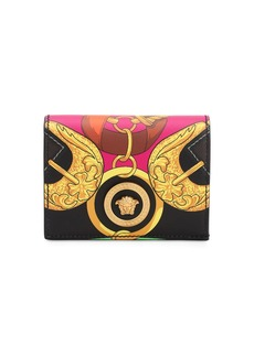 Versace Printed Leather Compact Wallet