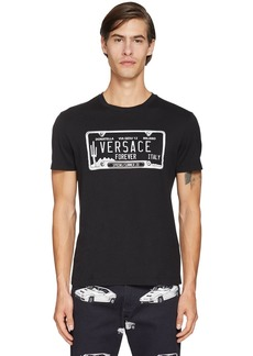 Versace Printed Logo Cotton T-shirt