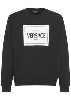 Versace Printed Logo Crewneck Sweatshirt