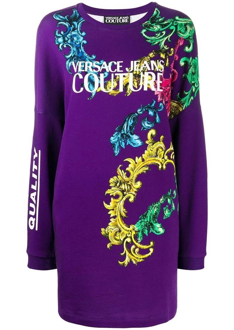 Versace printed logo sweater dress