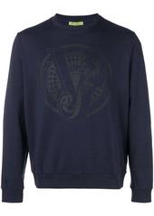 Versace printed logo sweatshirt