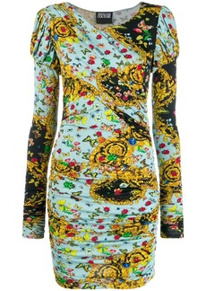 Versace printed long sleeve dress