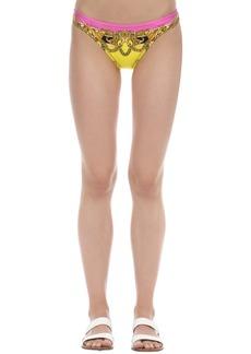 Versace Printed Lycra Bikini Bottoms