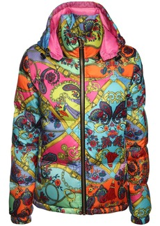 Versace Printed Nylon Down Jacket
