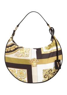 Versace Printed Nylon Hobo Bag