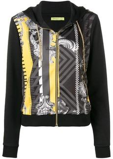 Versace printed panel hoodie