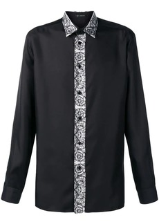 Versace printed panel shirt