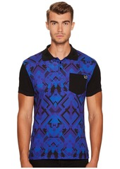 Versace Printed Pocket Polo