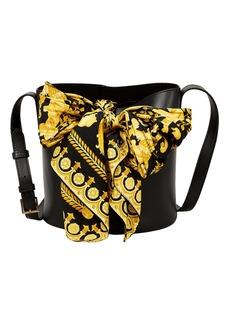 Versace Printed Scarf Bucket Bag