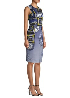 Versace Printed Sheath Dress